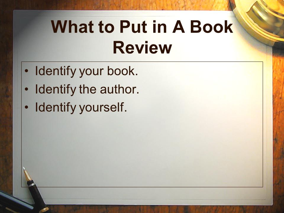 What to Put in A Book Review