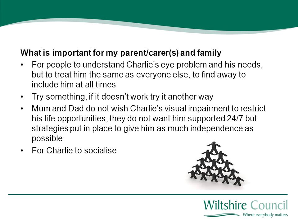 What is important for my parent/carer(s) and family