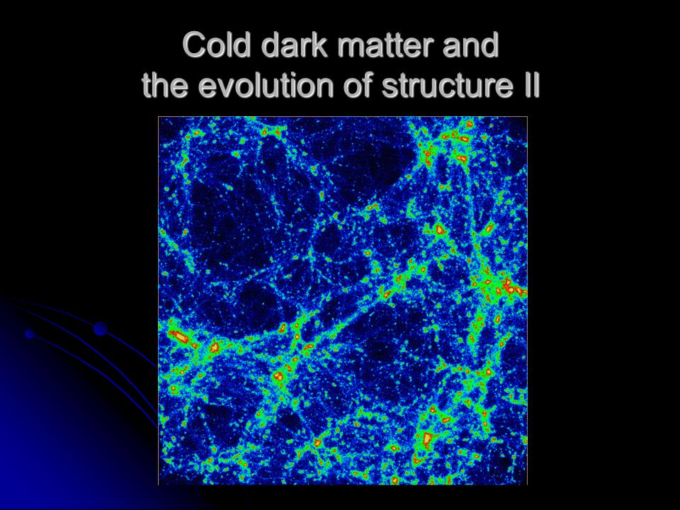 Cold dark matter and the evolution of structure II
