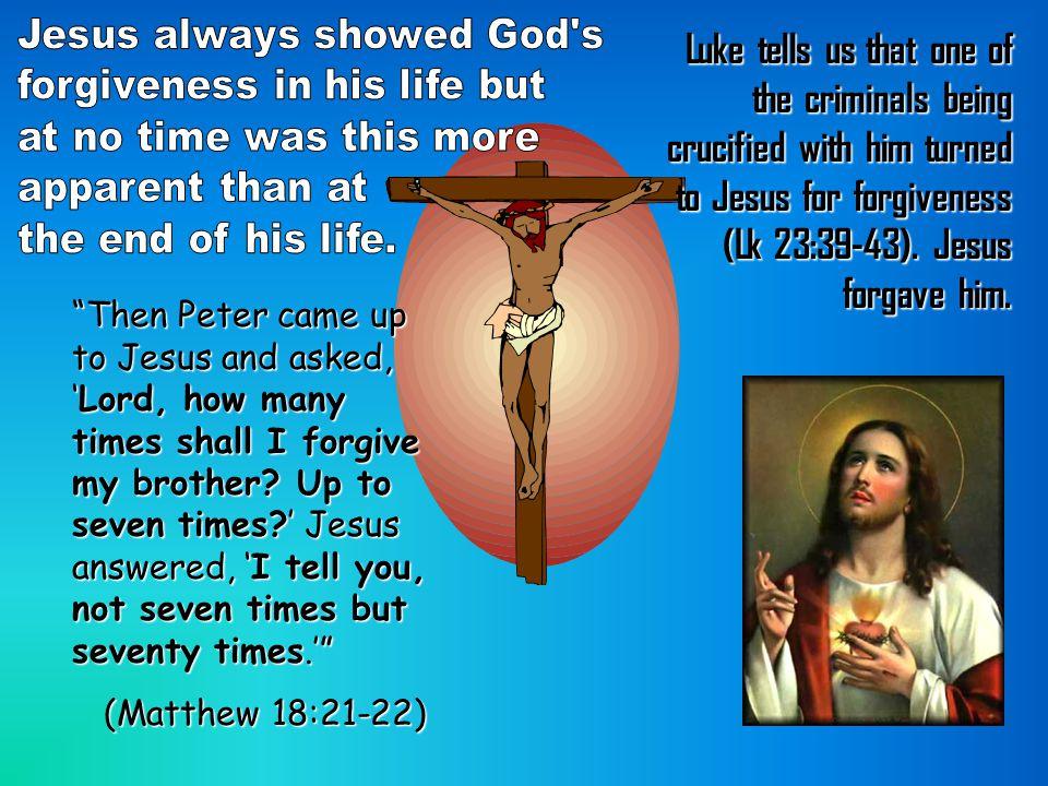 Jesus always showed God s