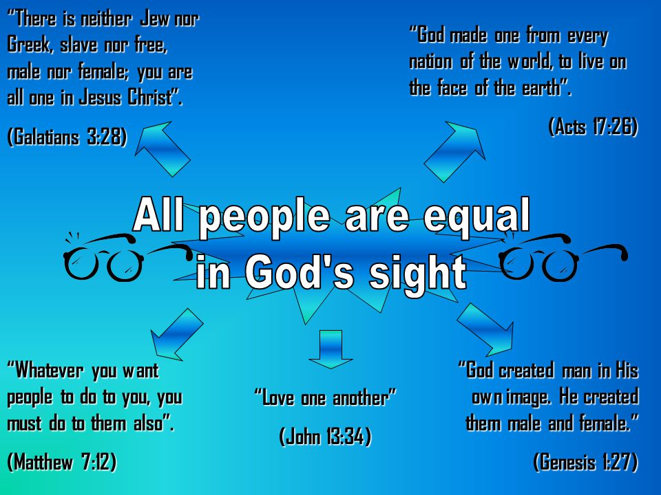 All people are equal in God s sight