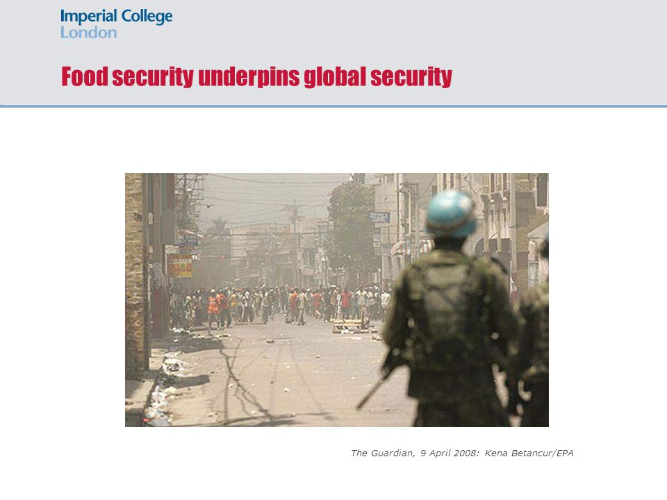 Food security underpins global security