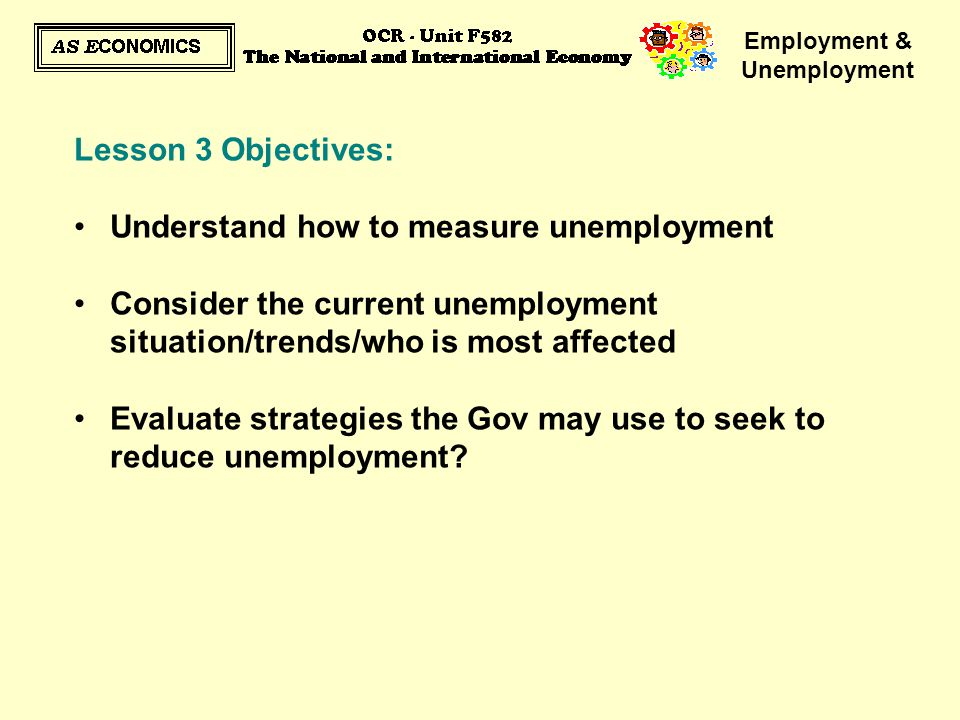 measures to solve unemployment Youth unemployment remains stubbornly high at 16% across the g20 nations  10 recommendations to help reduce youth unemployment through entrepreneurship.