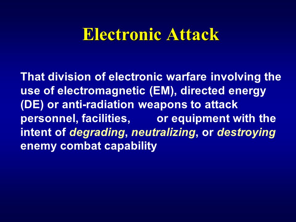 IW 150 EW Notetaker Electronic Attack.