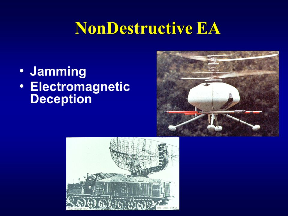 NonDestructive EA Jamming Electromagnetic Deception