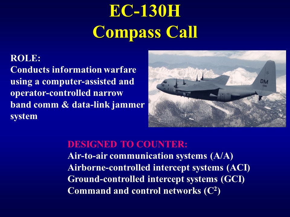 EC-130H Compass Call ROLE: