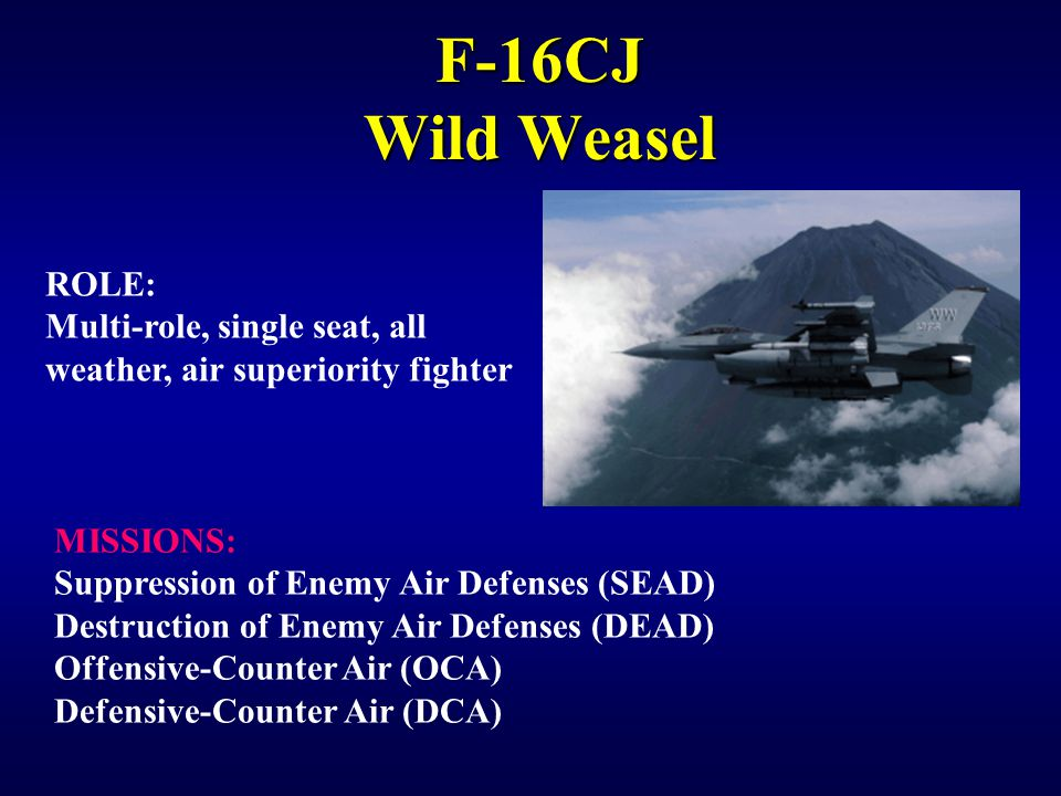 IW 150 EW Notetaker F-16CJ Wild Weasel. ROLE: Multi-role, single seat, all weather, air superiority fighter.