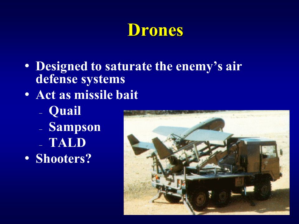 Drones Designed to saturate the enemy's air defense systems