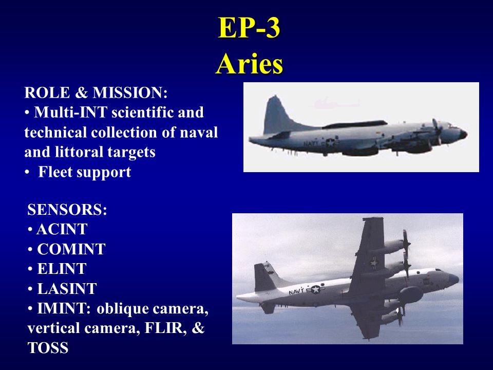 EP-3 Aries ROLE & MISSION: