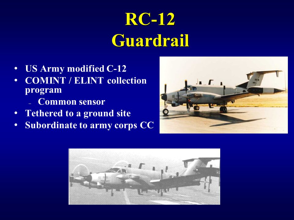 RC-12 Guardrail US Army modified C-12