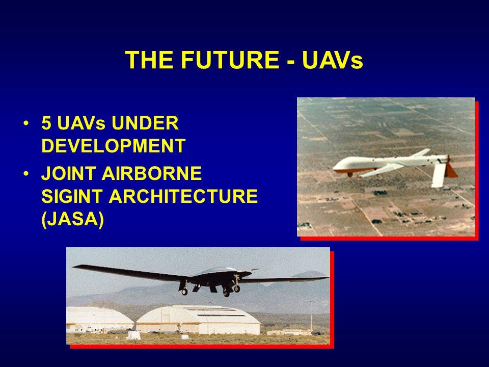 THE FUTURE - UAVs 5 UAVs UNDER DEVELOPMENT