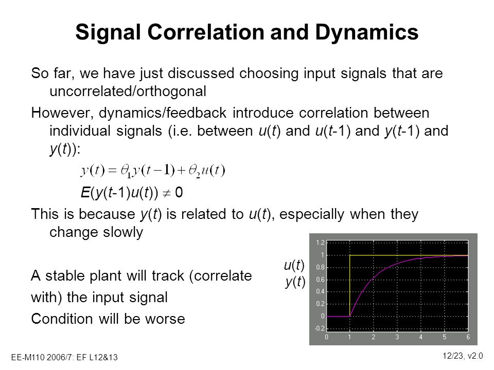 Signal Correlation and Dynamics