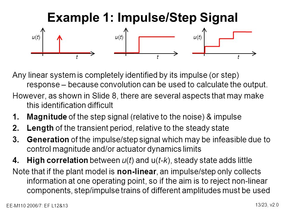 Example 1: Impulse/Step Signal