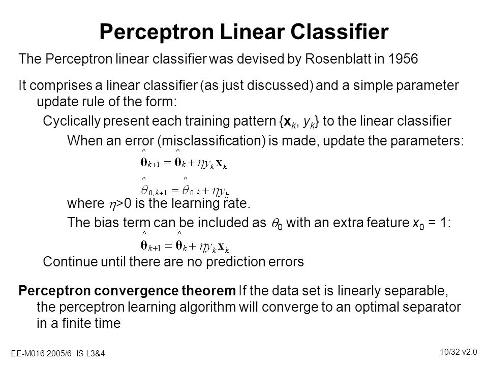 Perceptron Linear Classifier