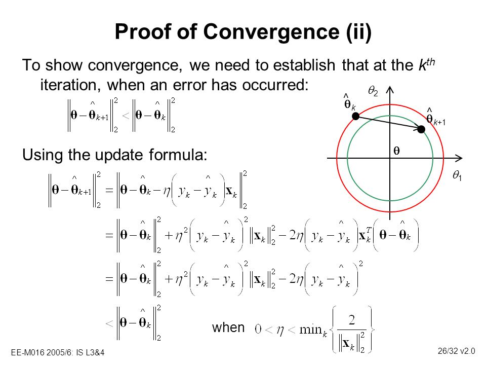 Proof of Convergence (ii)