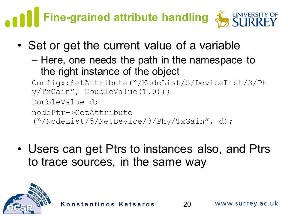 Fine-grained attribute handling