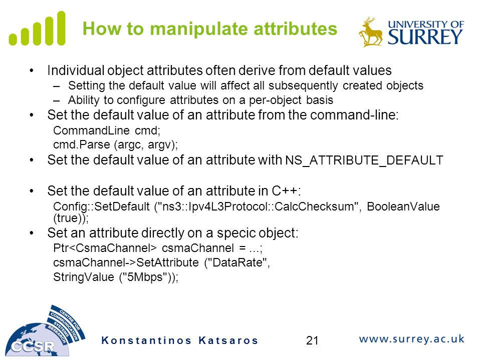 How to manipulate attributes