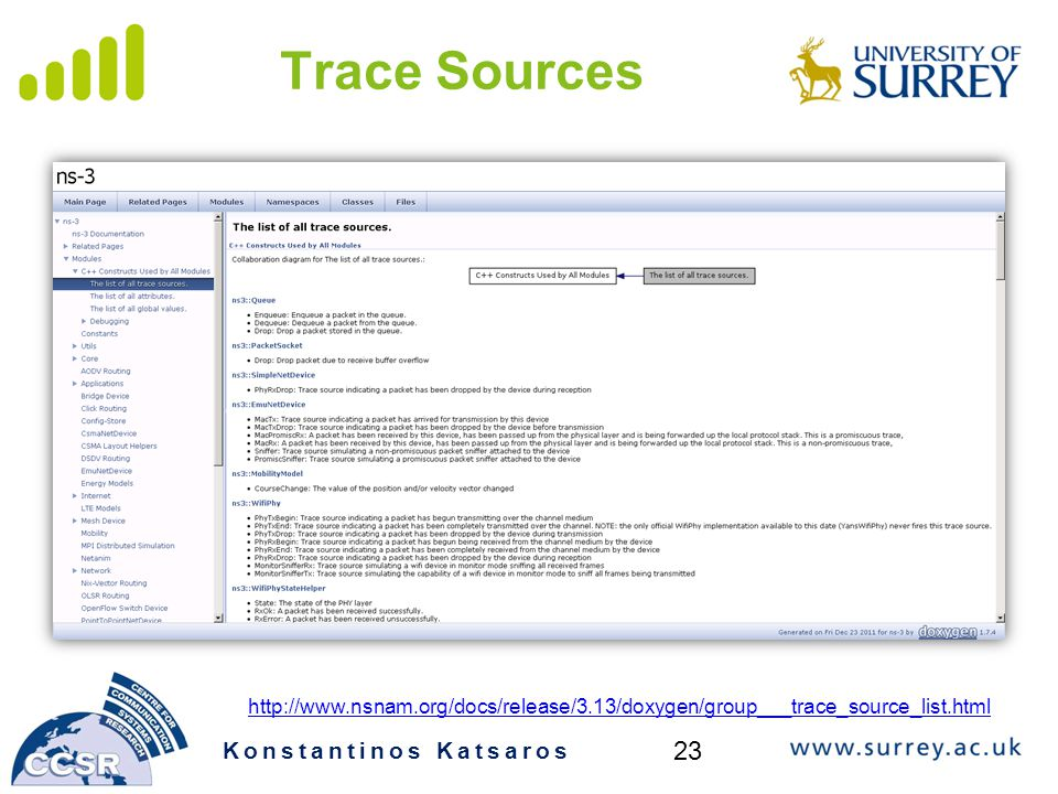 Trace Sources 23 Konstantinos Katsaros