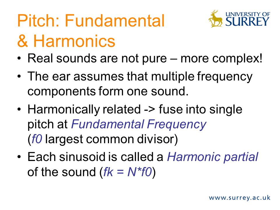 Pitch: Fundamental & Harmonics
