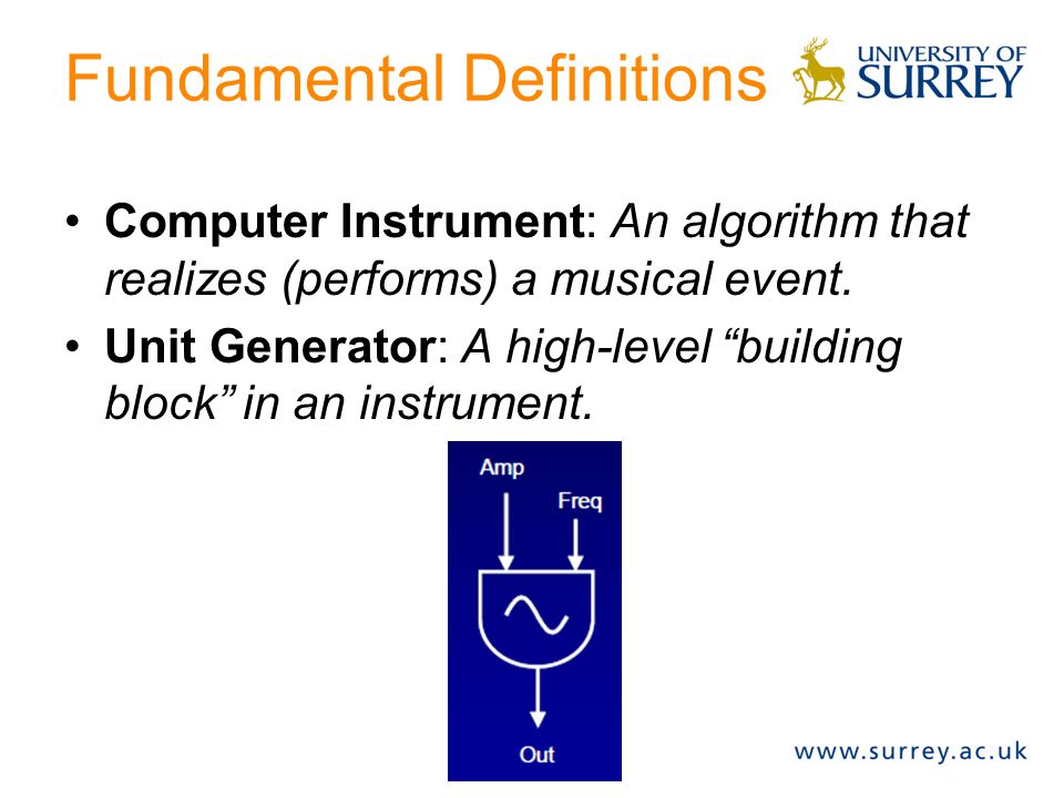 Fundamental Definitions