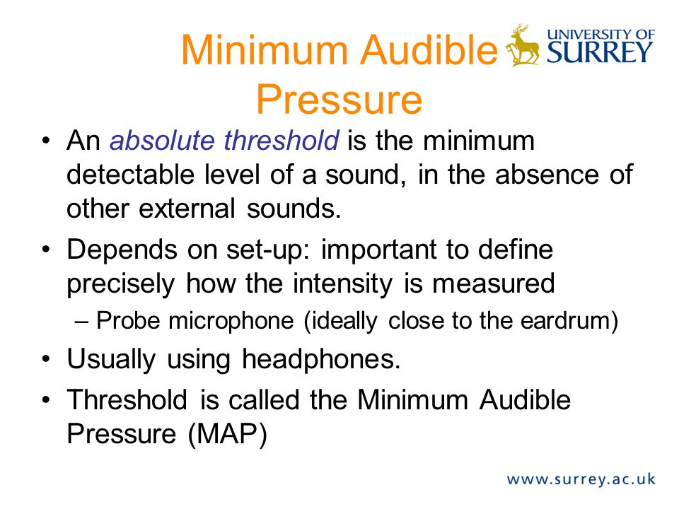 Minimum Audible Pressure