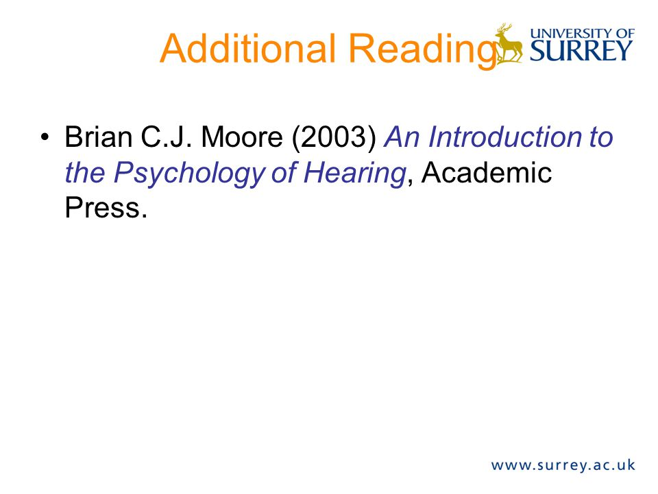 Additional Reading Brian C.J.