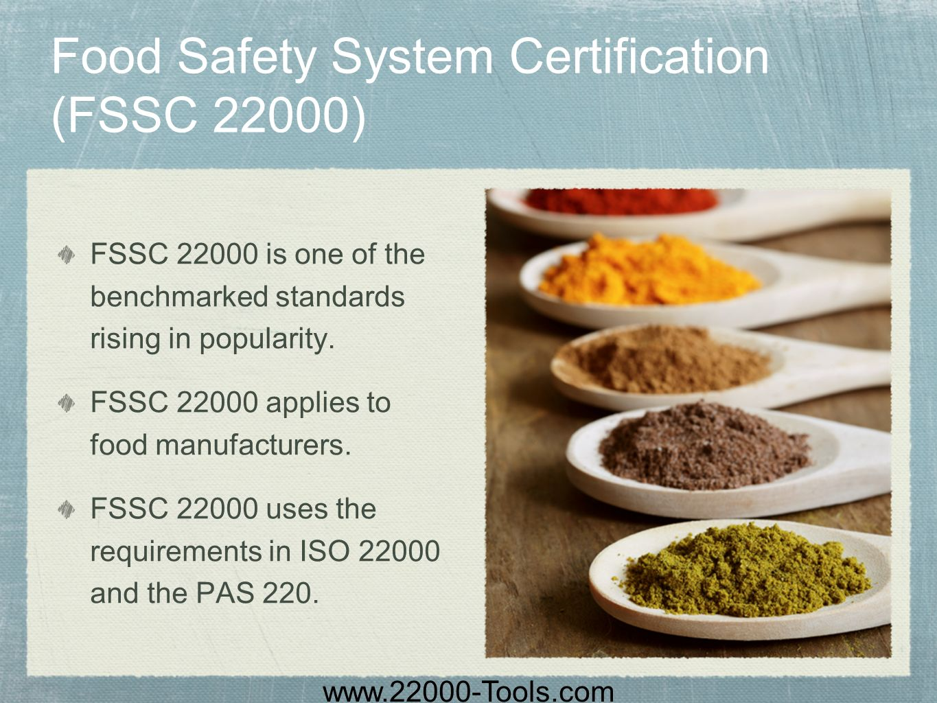 Food Safety System Certification (FSSC 22000)