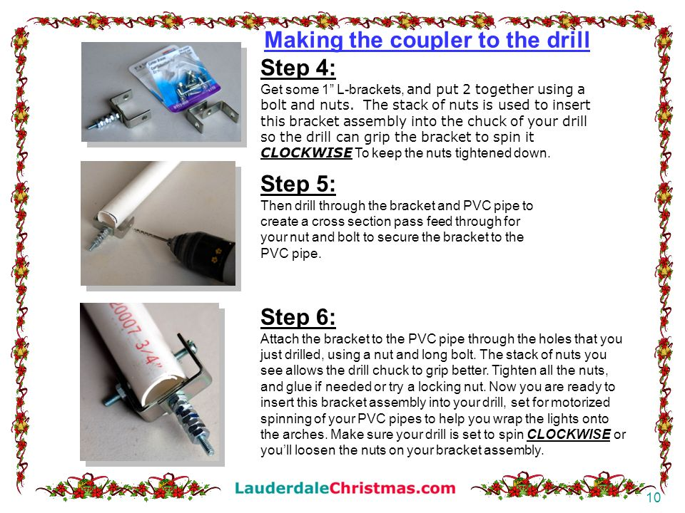 Making the coupler to the drill Step 4: