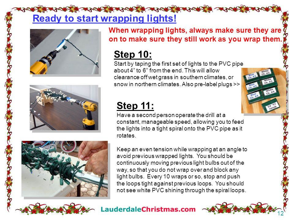 Ready to start wrapping lights!