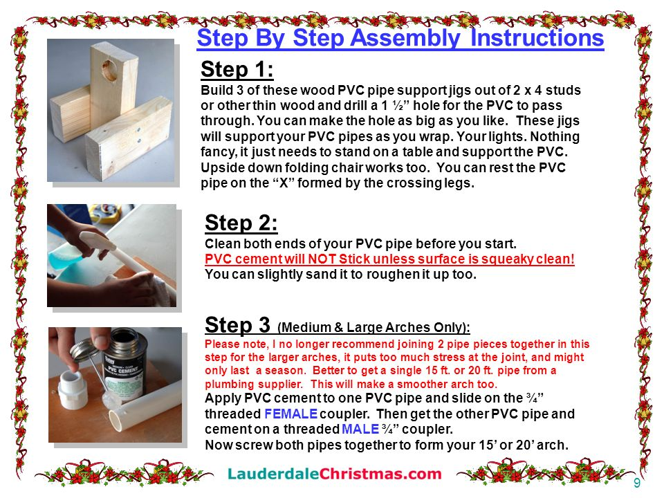 Step By Step Assembly Instructions
