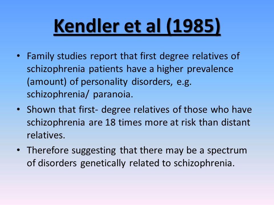 Kendler et al (1985)