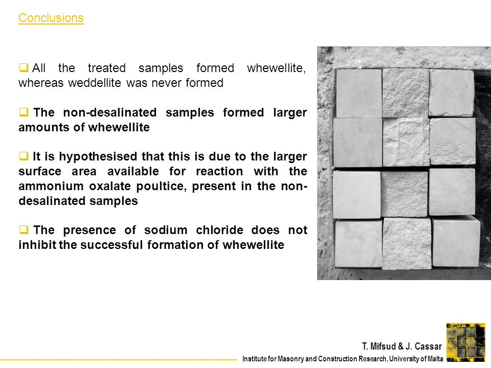 The non-desalinated samples formed larger amounts of whewellite