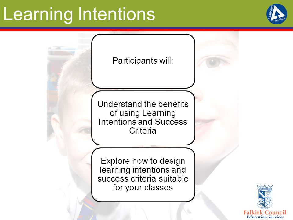 Learning Intentions Participants will: