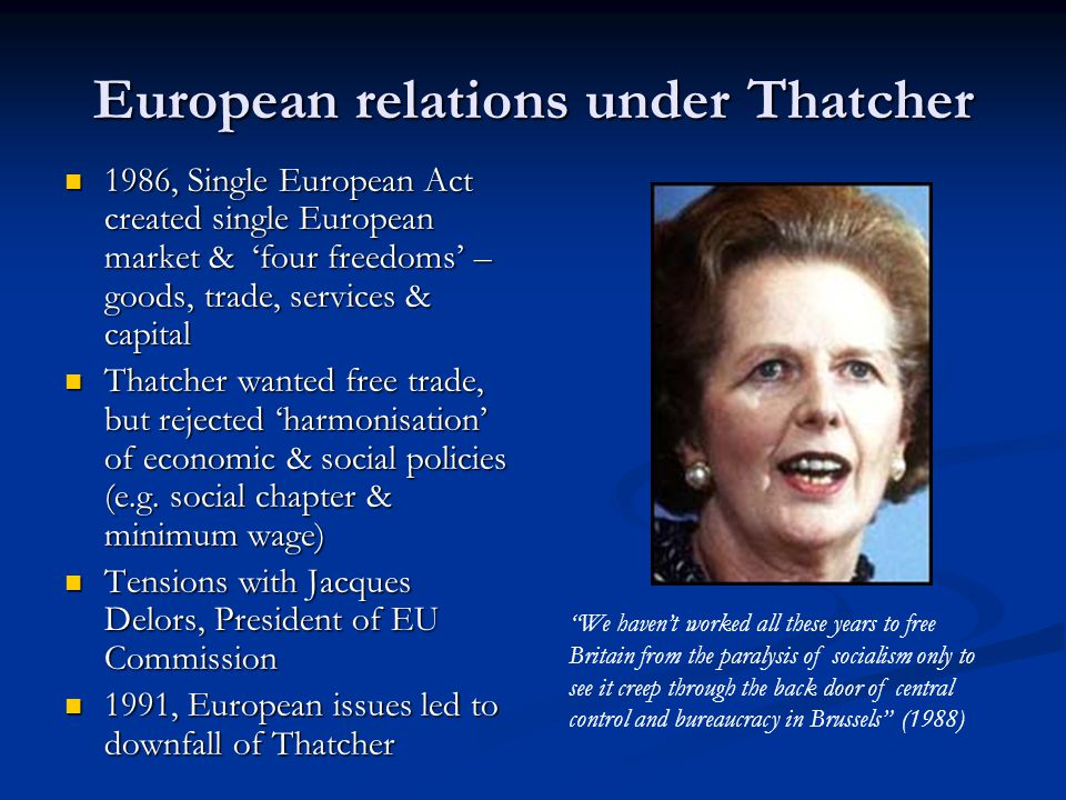 European relations under Thatcher