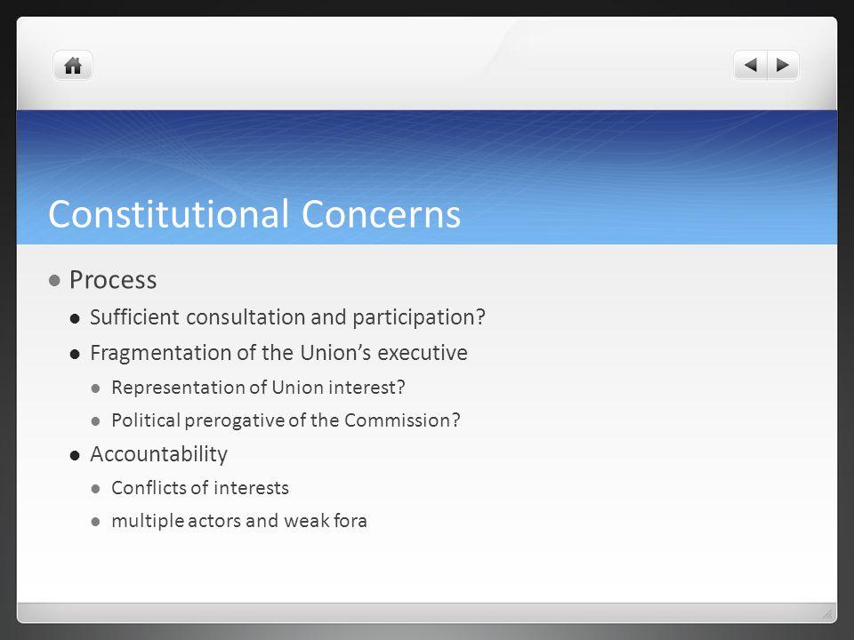 Constitutional Concerns