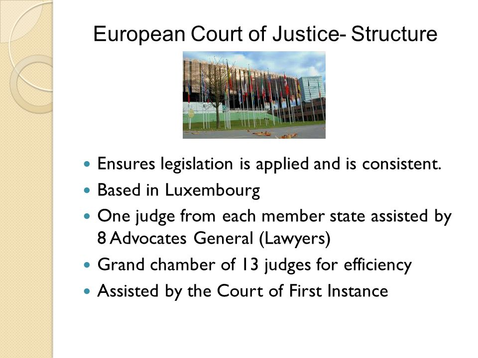 European Court of Justice- Structure