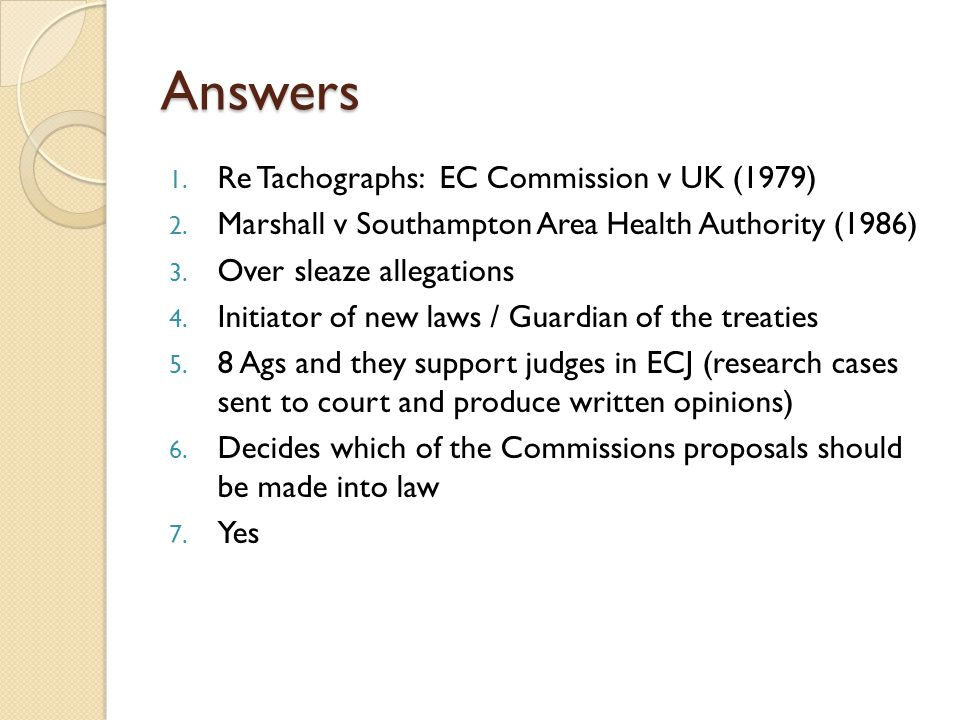 Answers Re Tachographs: EC Commission v UK (1979)