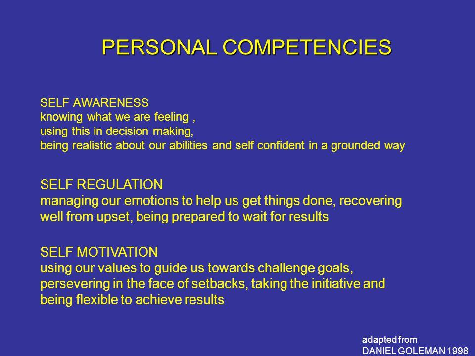 PERSONAL COMPETENCIES