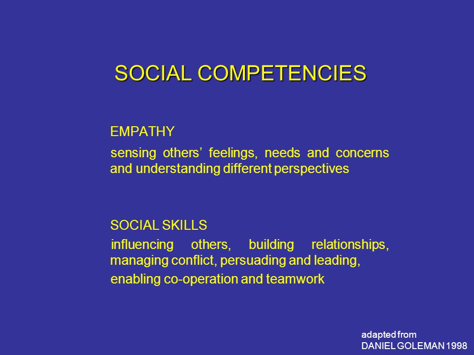 EMPATHY SOCIAL COMPETENCIES