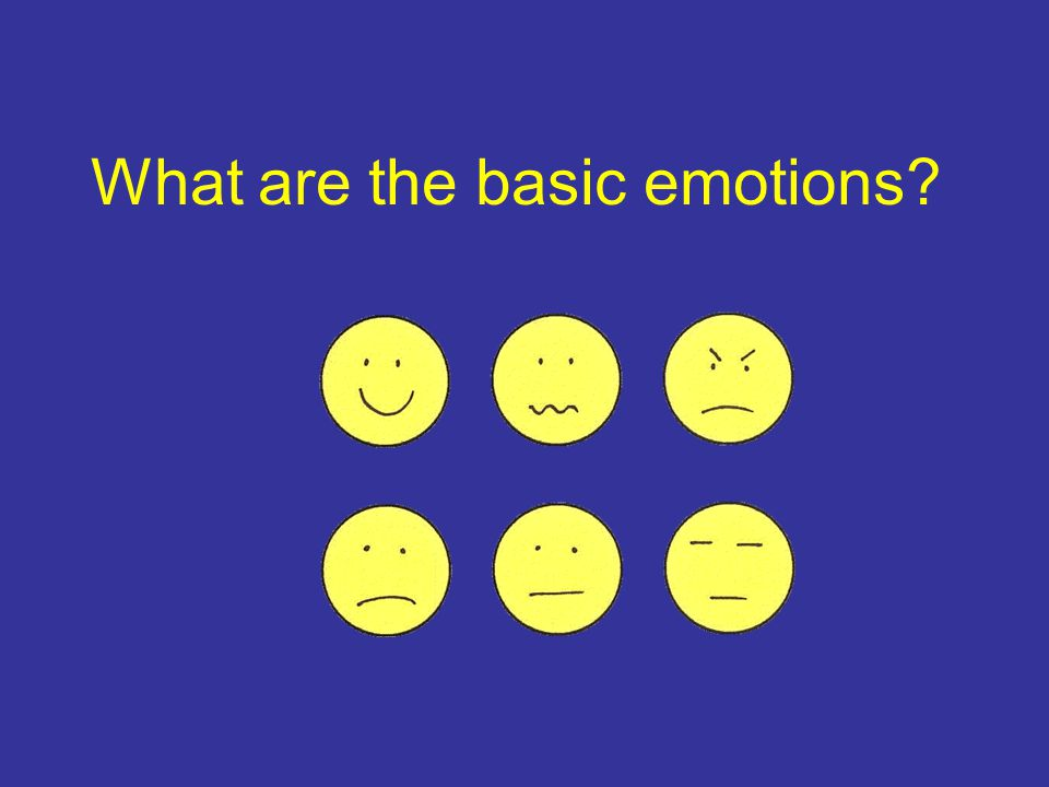 What are the basic emotions