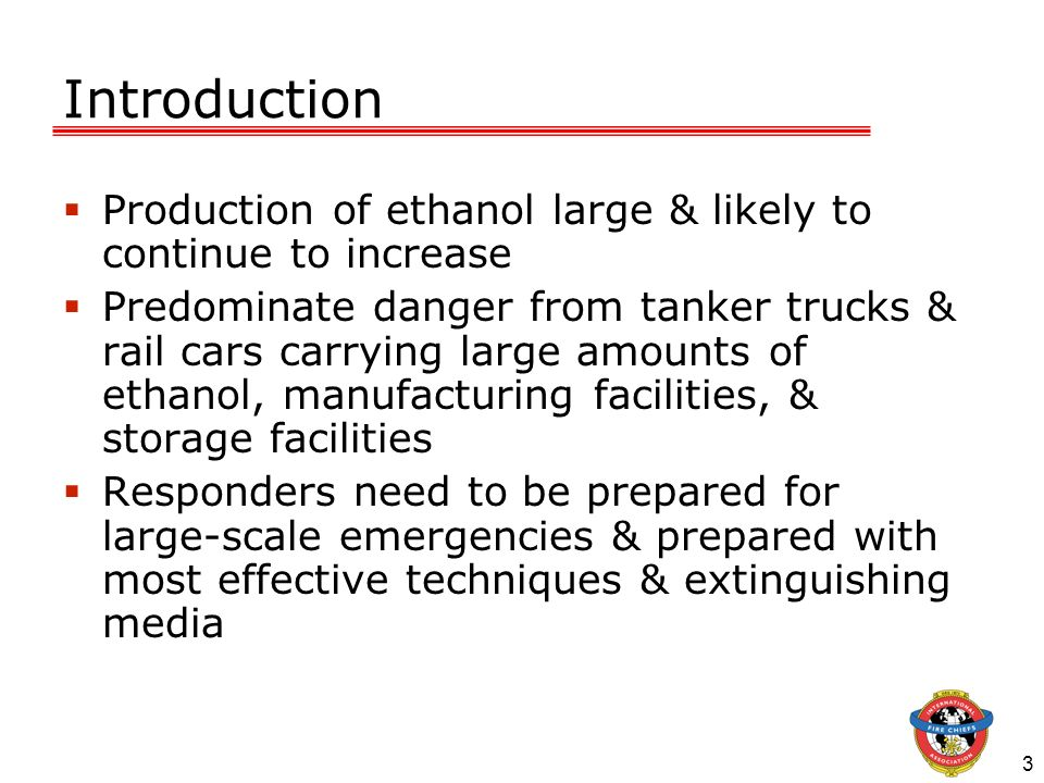Introduction Production of ethanol large & likely to continue to increase.