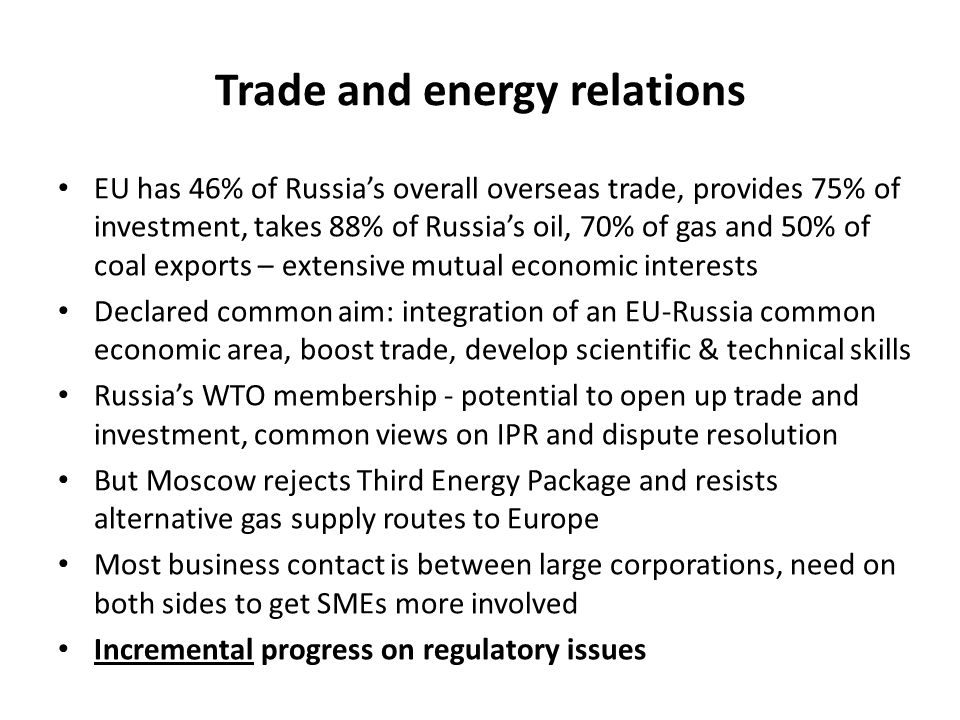 Trade and energy relations
