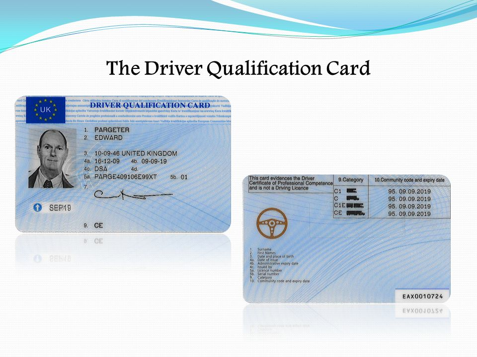 The Driver Qualification Card
