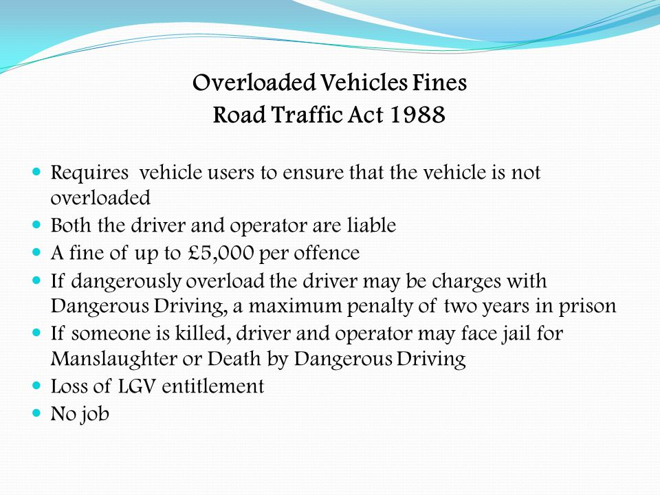 Overloaded Vehicles Fines