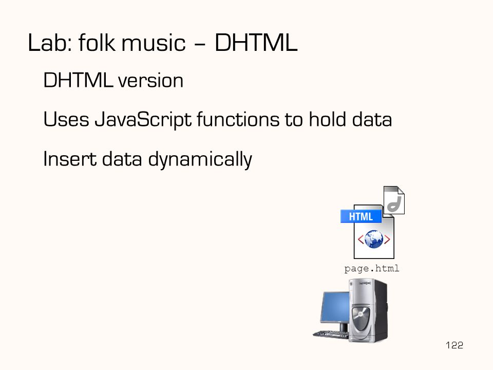 Lab: folk music – DHTML DHTML version