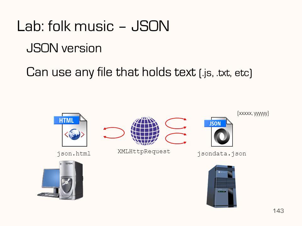 Lab: folk music – JSON JSON version