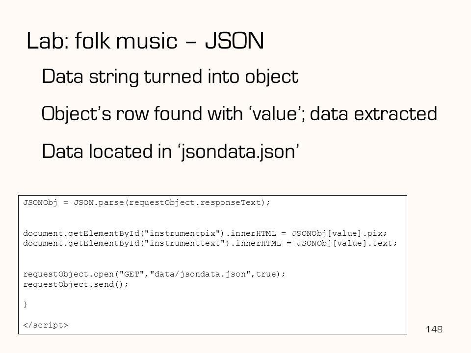 Lab: folk music – JSON Data string turned into object