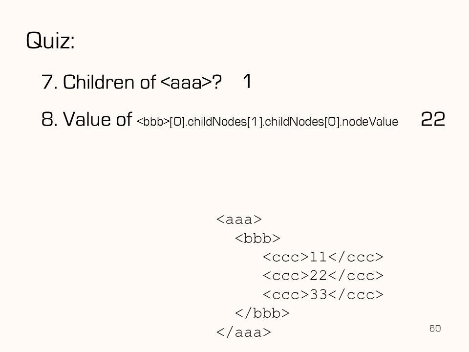 Quiz: 7. Children of <aaa> 1