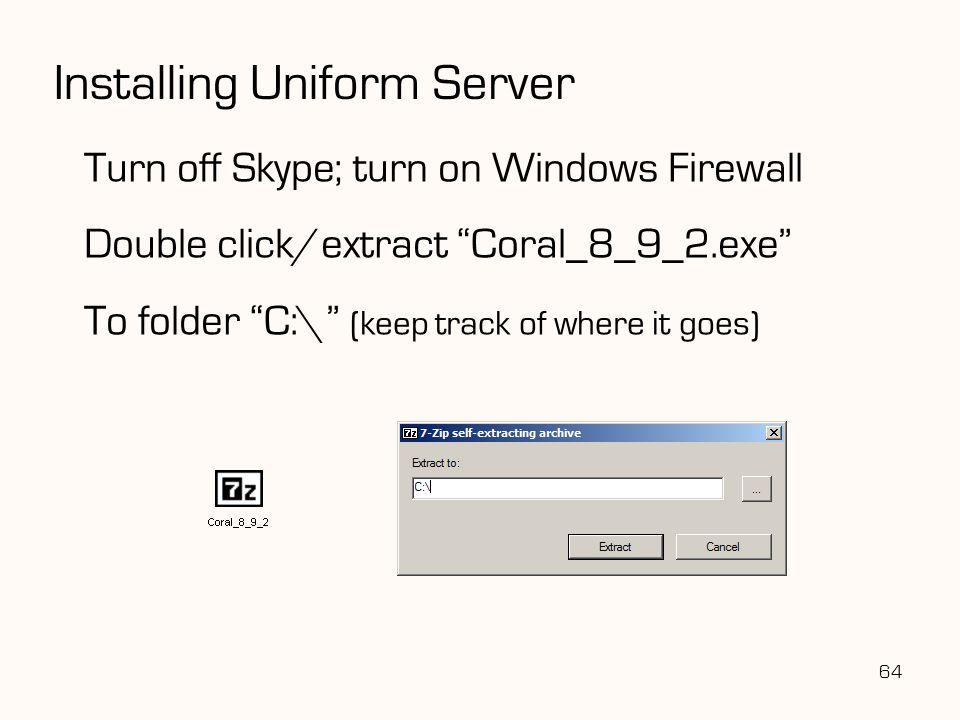 Installing Uniform Server