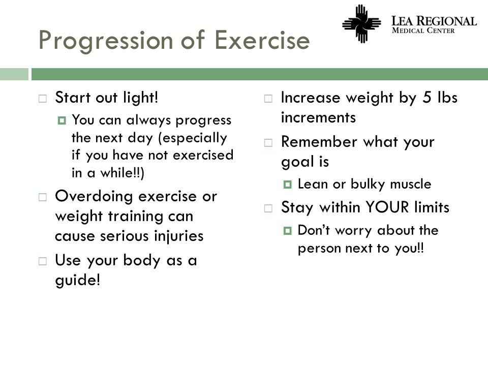 Progression of Exercise
